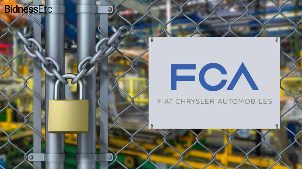 Fiat Chrysler to shutter plants.