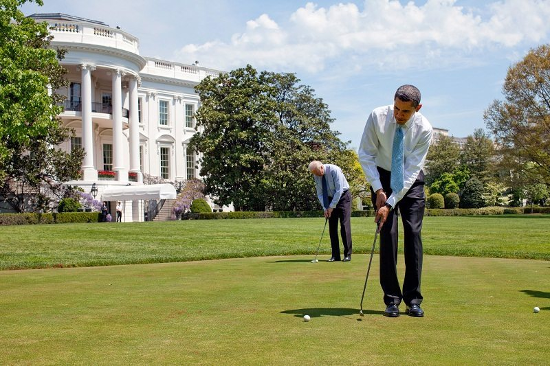 Obama golfs as troops in Turkey are held hostage.