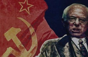Soviet flags fly at pro-Sanders march at DNC