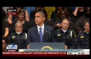 Obama in Dallas referred to himself 45 times while defending Black Lives Matter