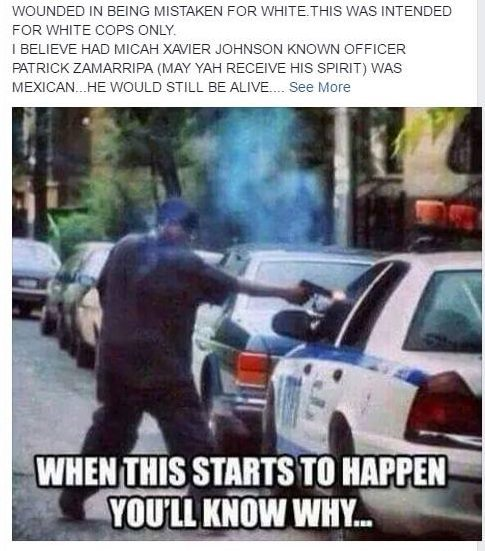 post inciting violence against cops