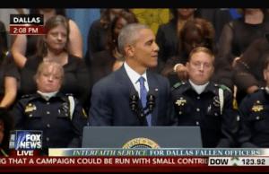 Obama insults America at Dallas memorial, meets with DeRay McKesson