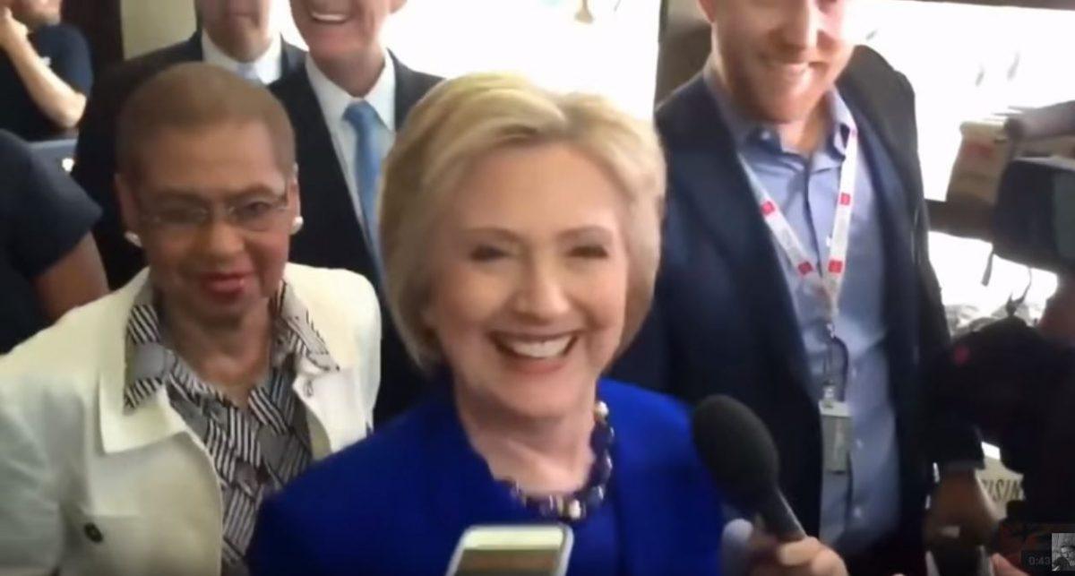 Clinton-demon possessed-eyes black