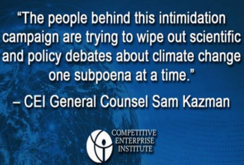 Government officials seeks to bully climate change skeptics into silence