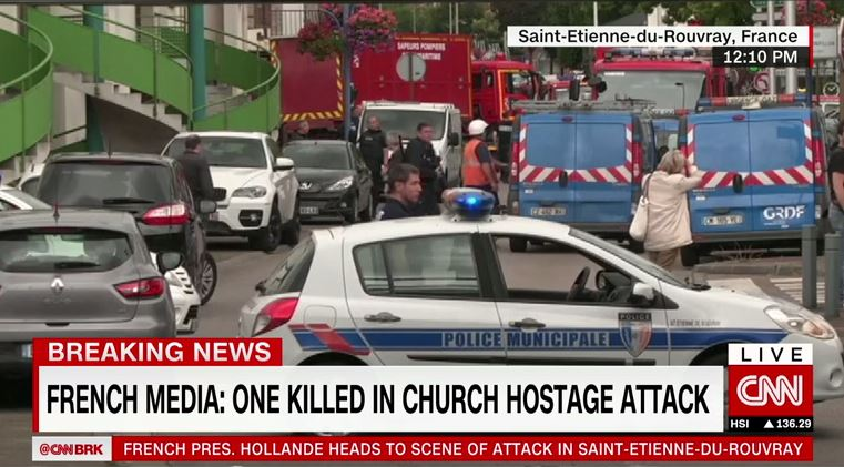 CNN says ISIS church attack in France is really targeting Muslims.