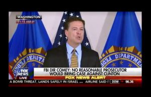 Comey admits others would be sanctioned for what Clinton did.