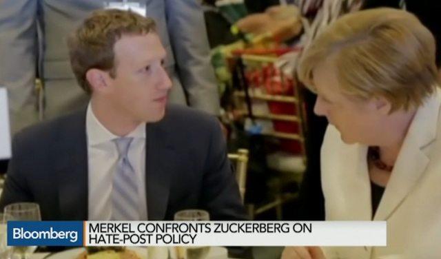 Merkel and Zuckerberg discuss censorship