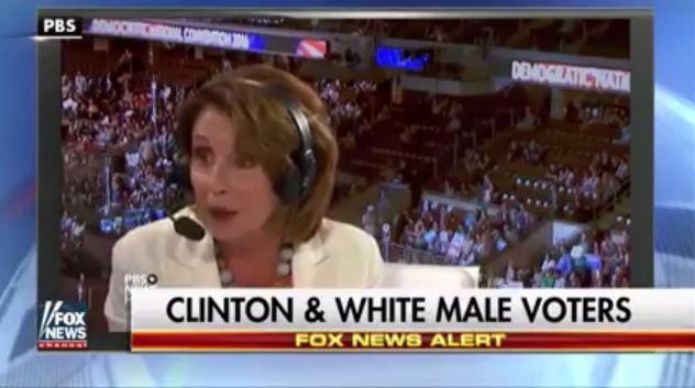 Pelosi says white males are too stupid to vote for Hillary