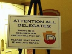 Racist sign spotted at DNC