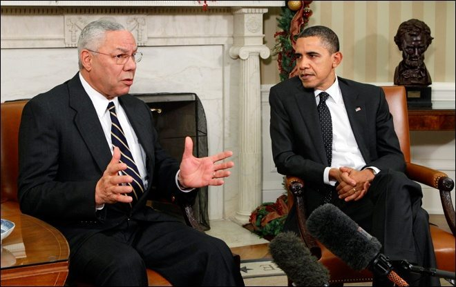 Colin Powell and his BFF Barry (Photo: Pinterest).