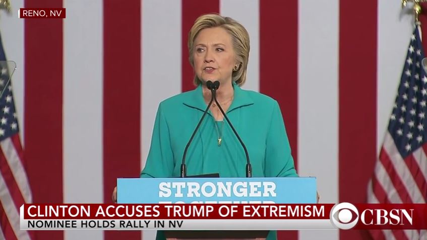 Clinton bashes Trump supporters as racists