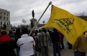 """The EEOC says """"Don't Tread On Me"""" could be racist."""