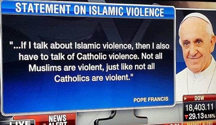 Another reason why #NotMyPope is trending.