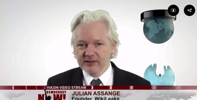 Julian Assange of Wikileaks says hundreds of Hillary emails reveal she helped arm ISIS