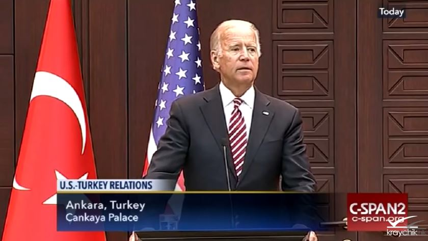Biden apologizes to Turkey for Constitution.