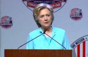 Clinton nearly calls Donald Trump her husband...