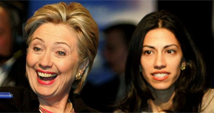 Clinton and her BFF (Photo: Pinterest).
