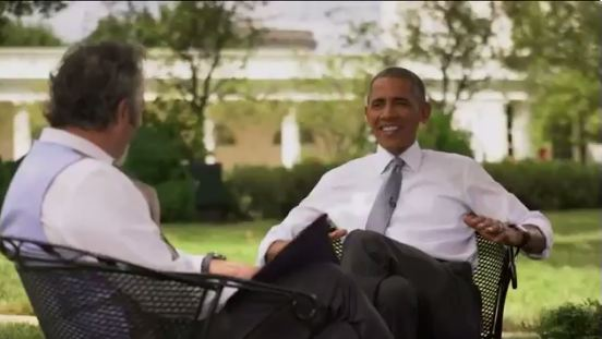 Obama tells the Golf Channel he's being forced out of the presidency.