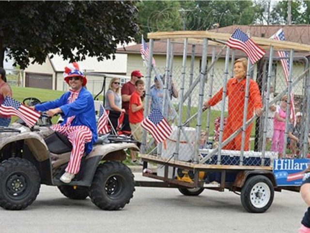 Hillary in jail, water balloons