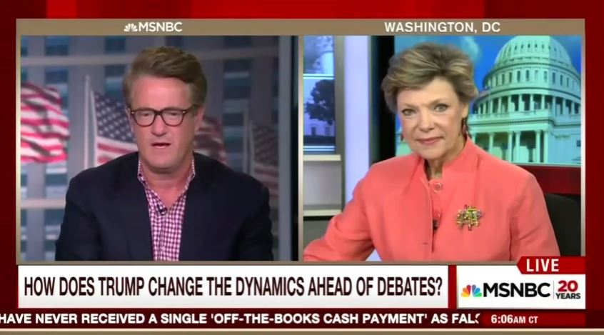 "Cokie Roberts calls Trump, supporters ""morally tainted."""