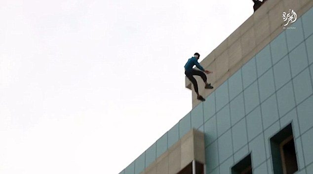 thrown off building by progressive Muslims for being gay.