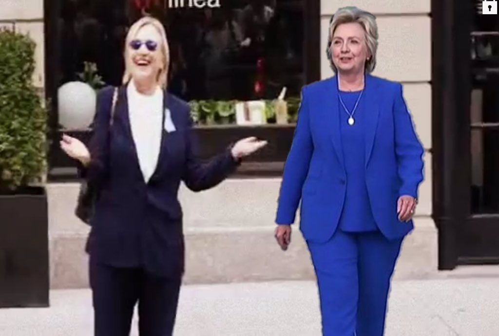 Some on Twitter now say Hillary is using a body double