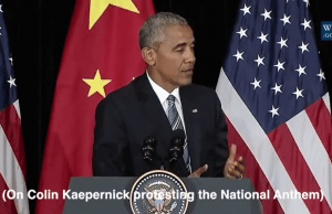 Obama trashes America 18 times in Asia