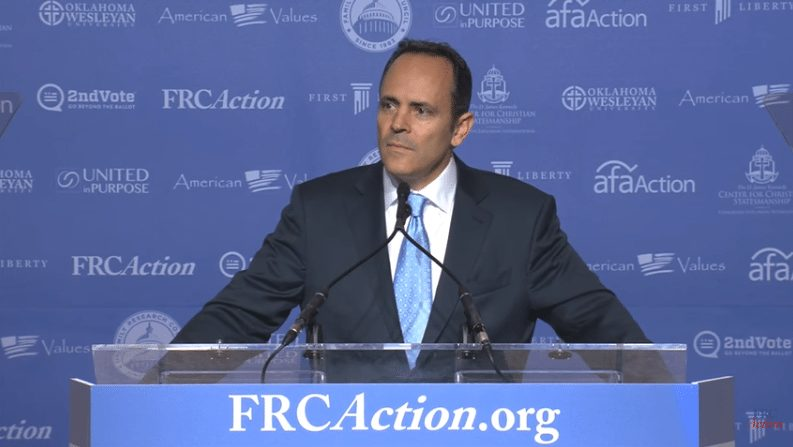 Matt Bevin warns that Hillary presidency could result in bloodshed.