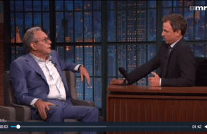 Comedian Lewis Black says people who vote for Trump are going to hell.