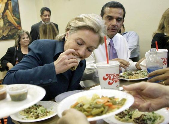 Let's hope Hillary understands she's at a Mexican restaurant. (Pinterest)