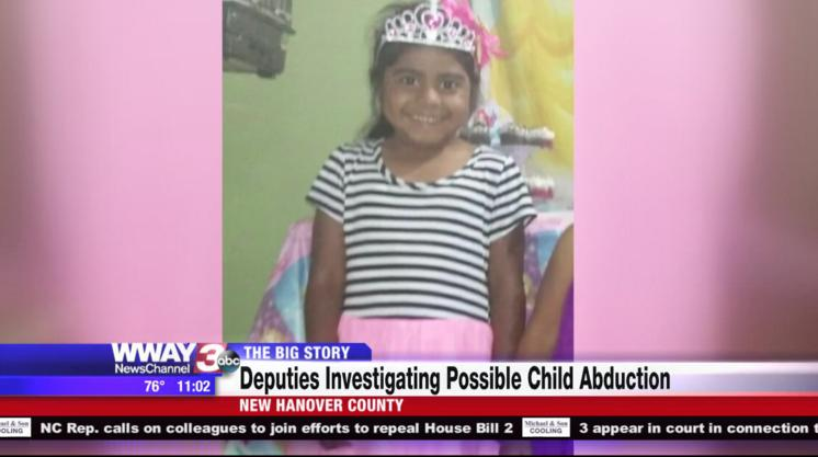 Rescued. Kidnapped Stefanny found alive. (WWAY-TV)
