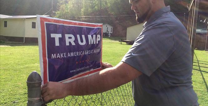eletrocuted trying to steal yard sign