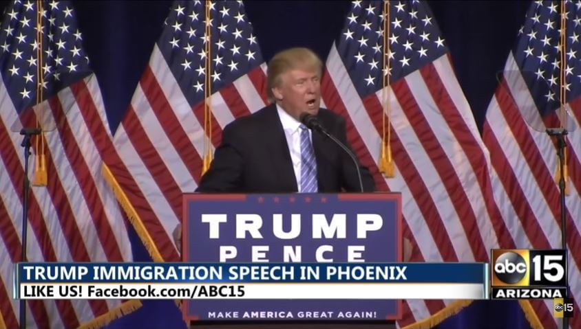 Donald Trump jokes about possibly deporting Hillary Clinton