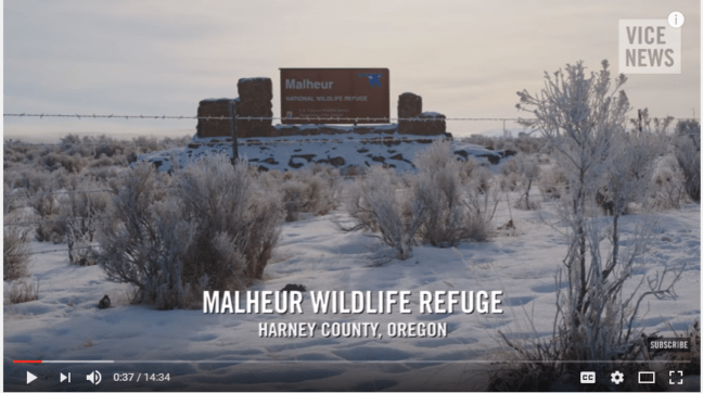 The Malheur occupation inspired lots of news features, including one on Vice News now available on YouTube. (Vice News, YouTube snip)