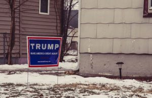 trump campaign sign stolen stealing