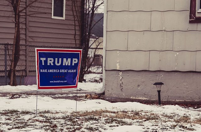 trump campaign sign stolen stealing