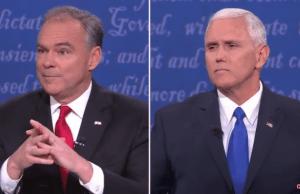 Pence beats Kaine in VP debate