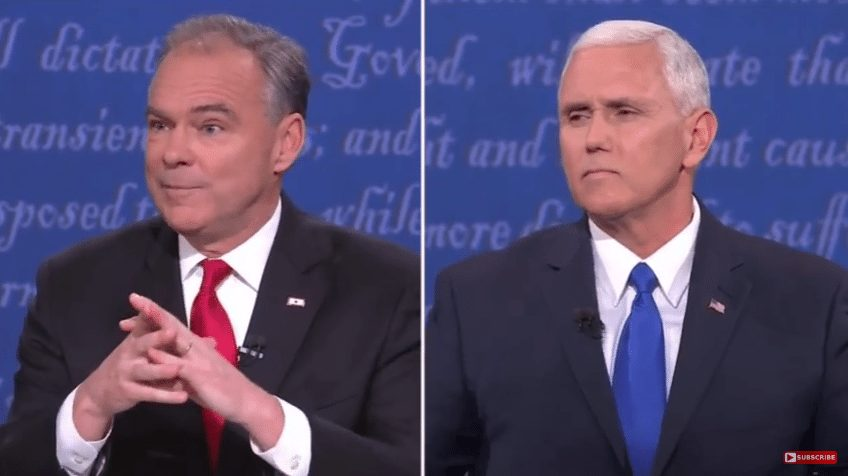Pence beats Kaine in VP debate
