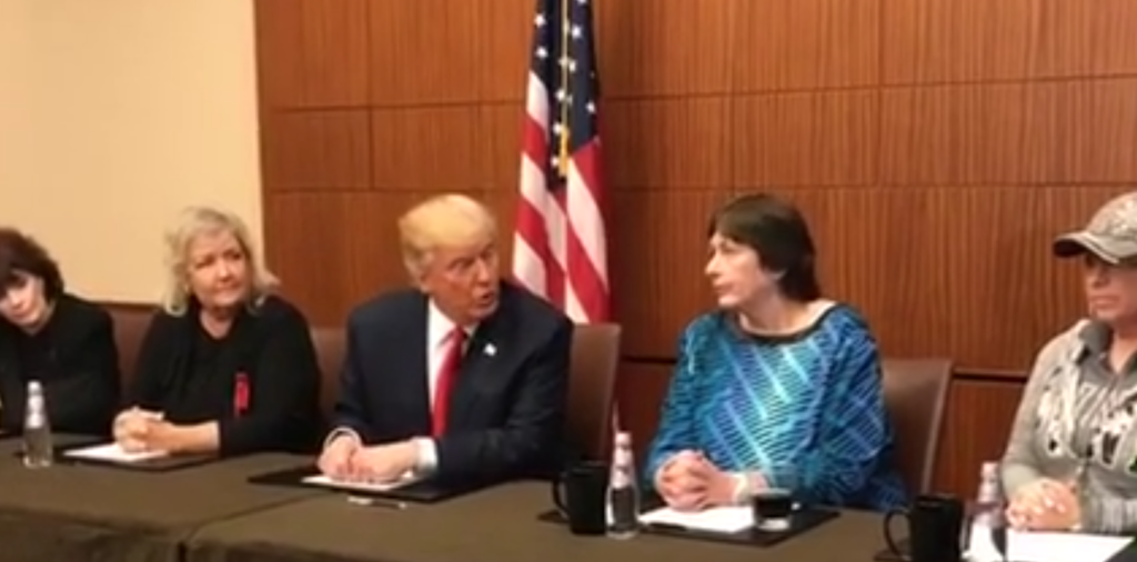 Trump with accusers