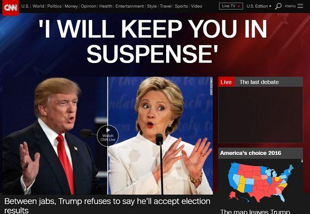 CNN - Trump concede