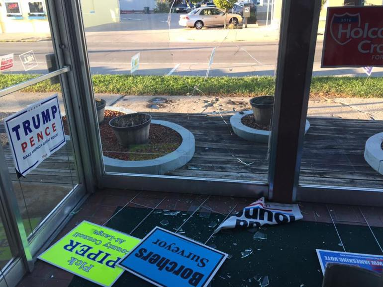 """Delaware County GOP office attacked by """"vandals"""""""