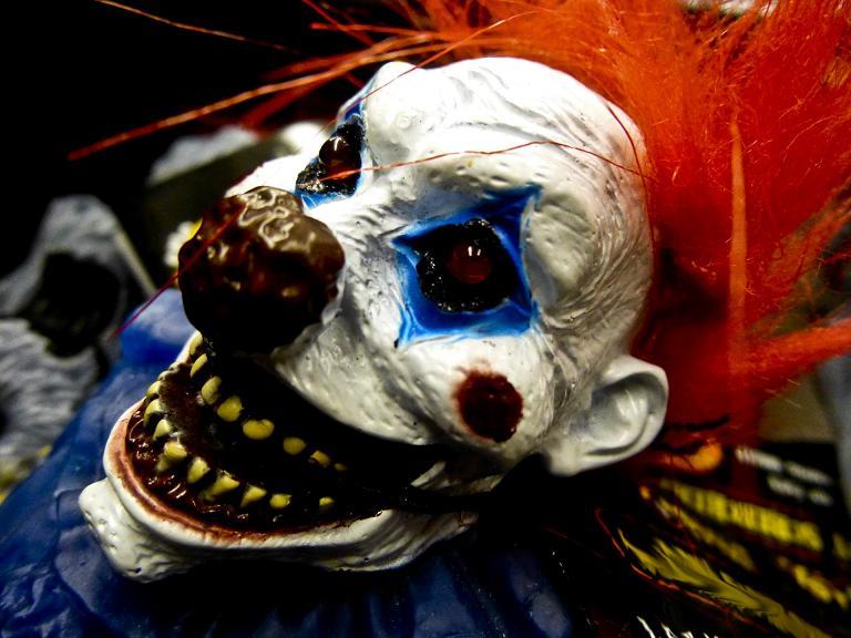 Creepy clown sightings spike. (Pinterest)