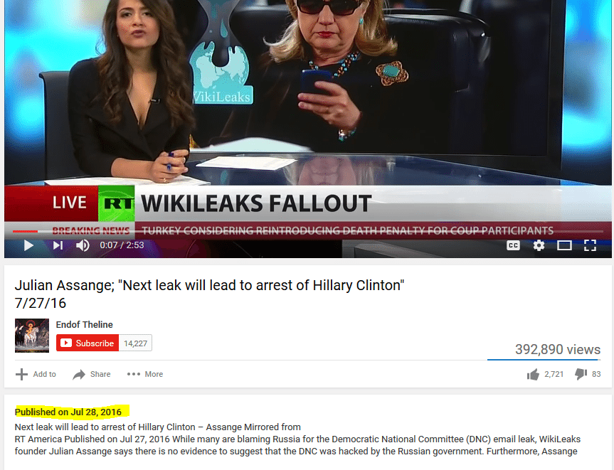 Hillary arrest