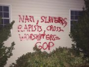 vandalism Pennsylvania anti-GOP graffiti