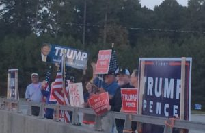 Trump supporters rally for their candidate