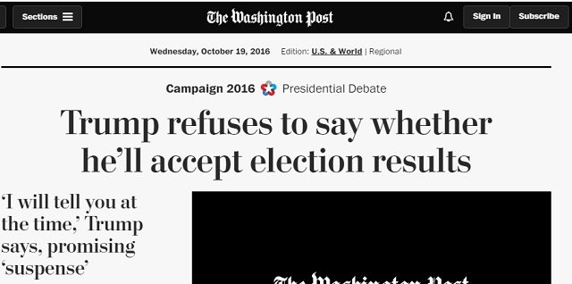 WaPo - Trump concede