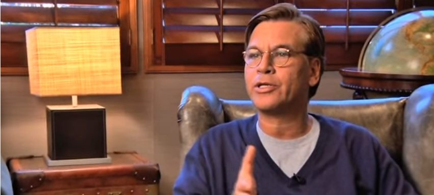 Oscar-winning screenwriter of The Social Network and The West Wing, Aaron Sorkin