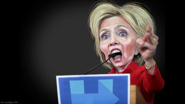 Hillary Clinton -- Antichrist drunk rage psychotic