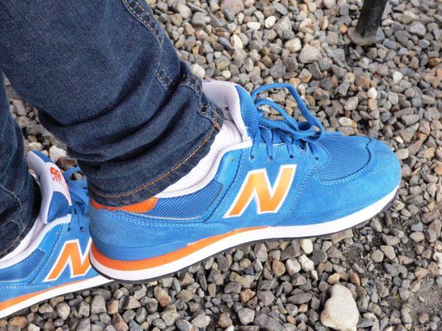 New Balance shoes burned