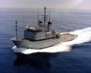 Not stealth - Fleet tug the USNS Narragansett (T-ATF 167).